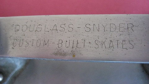 Stamping on an early Super Deluxe skates