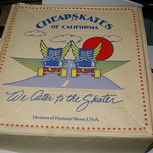 Cheapskates Roller Skates Box