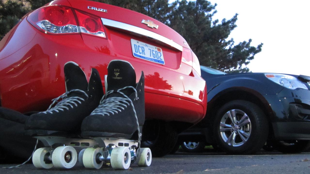 Skates and Car